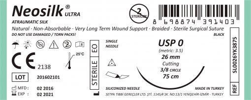 Neosilk ULTRA Silk Suture Single Pack
